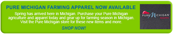 Pure Michigan Farming Apparel Now Available: Spring has arrived here in Michigan. Purchase your Pure Michigan agriculture and apparel today and gear up for farming season in Michigan. Visit the Pure Michigan store for these new items and more.