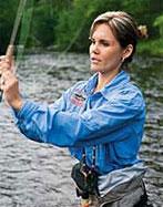 Woman Fly Fishing